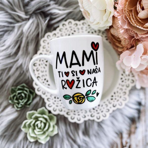 skodelica za mami mami ti si naša rožica darilo za mami materinski dan